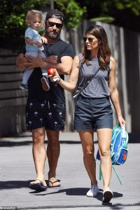 Exes Zoe Ventoura and Daniel MacPherson with their son Austin Xavier since announcing their split