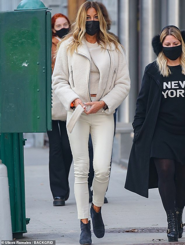 Legs for days: she established herself as a showbiz fashionista.  And Kelly Bensimon, 52, once again demonstrated her winning street style by hanging out with a few friends in New York this week.
