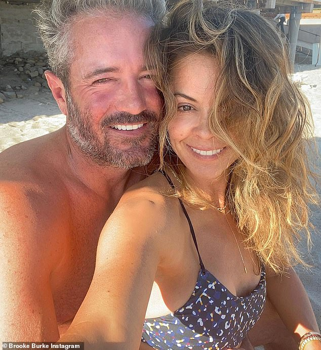 Happiness:Brooke is in a relationship with real estate developer Scott Rigsby, 52