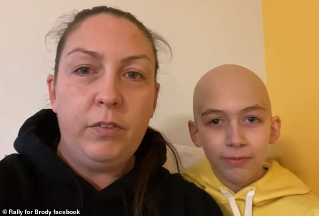 Biggest fan: Brody, who's from Reynolds' native Canada, has been undergoing chemotherapy treatments for stage 3B Hodgkins Lymphoma