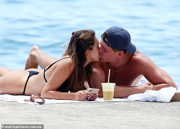No more Locky? Bella looked enamoured with hunky Will
