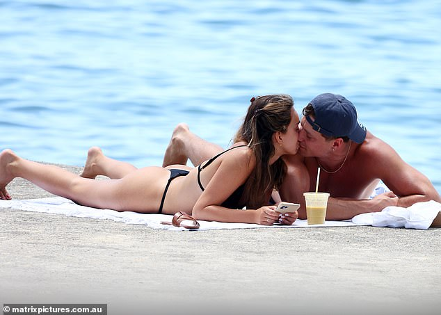 New man? Bella and Will spent time kissing each other as they enjoyed the summer sun