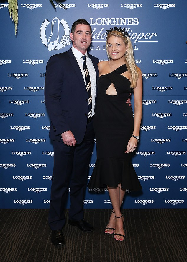 Wed?Erin Molan's appearance on a British breakfast show has left fans wondering if she's secretly married her fiancé Sean Ogilvy. Both pictured