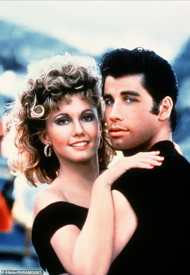 Inspiration: The Geordie Shore star, 25, joked she was 'waiting for her Danny' as she channelled Grease character Sandy (Olivia Newton-John and John Travolta pictured in 1978 film)