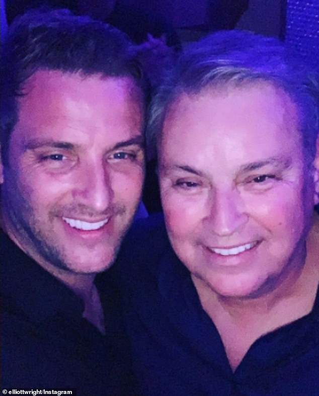 Heartbreaking:Mark also revealed that two of his uncles are currently in hospital due to the virus with his uncle Eddie, 65, the father of his reality star cousin Elliott, in a coma and intensive care unit (ICU) (Elliott and Eddie pictured in February 2020)