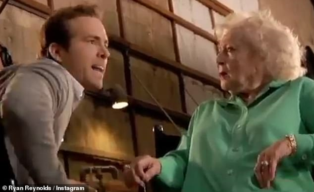 Suck it! He reaches his boiling point, as he snaps: 'You seem like an adorable, sweet old lady on the outside, but on the inside, you're like this seething demon. You hear me? Why don't you suck a hot c***? That's right everybody, I told Betty White to go such a hot c***!'