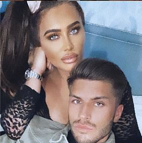 Inseparable: Lauren and Charles pictured last year