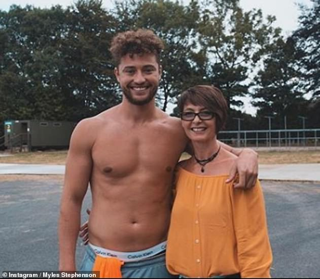 Family first: The X Factor star revealed his parents ended their relationship when he was two years old, (pictured with his mum Vicky in 2019)