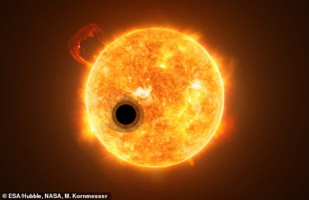 WASP-107b is very close to its star WASP-107, estimated to be 16 times more of its star than the Sun from planet Earth.