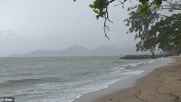 There are warnings of abnormally high tides from Innisfail to Bowen in North Queensland. Pictured, Cyclone Kimi affecting the Townsville region