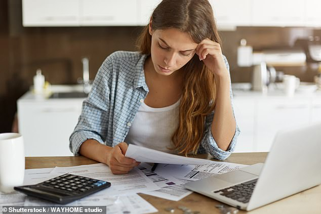 Rising costs: Anyone who misses the deadline to file and pay their bill is automatically fined £100. The penalty will then rise by £10 a day if still not paid after three months