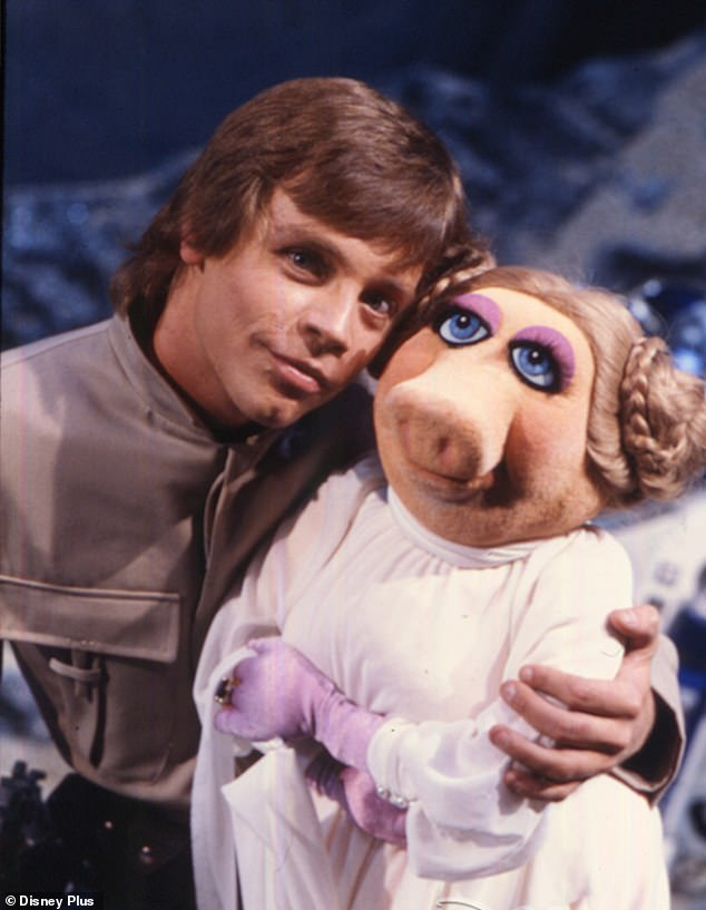 The force is strong with this one: Star Wars icon Mark Hamill memorably acted opposite Miss Piggy in a sketch called 'Pigs in Space' in 1980