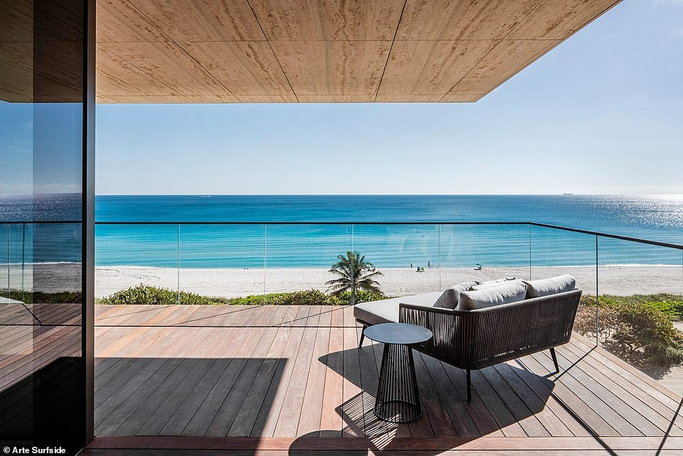 Each unit at Arte Surfside features a wrap-around terrace with views of the Atlantic Ocean. An example of one of the terraces is shown above. It remains unclear which unit was leased by Ivanka and Jared