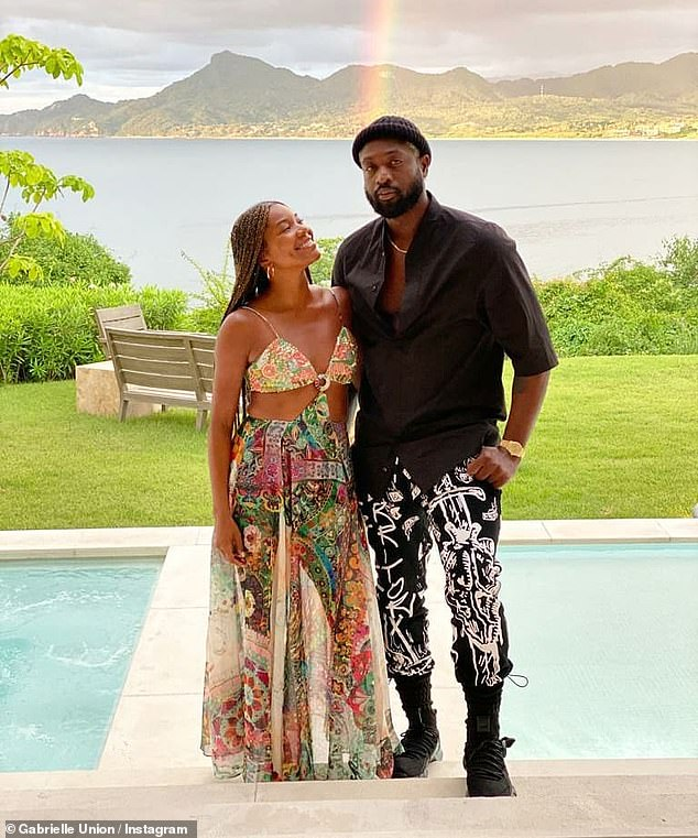 Not a fan: Gabrielle Union has revealed that her husband Dwyane Wade is not a fan of her onscreen sex scenes – and often asks for a warning before watching her on TV
