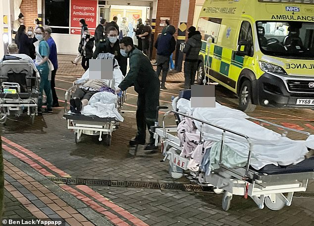 Dozens of patients were evacuated from Leeds hospital into the freezing cold after a fire broke out inside, with smoke reportedly filling the corridors