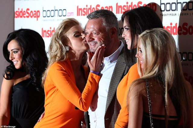 Mick Norcross and The SugarHut Honeys attend the Inside Soap Awards at One Marylebone in London in September 2012