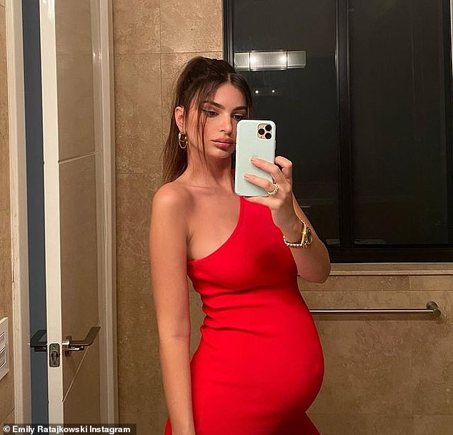 Updates: The brunette beauty, 29, has documented various stages of her pregnancy on Instagram
