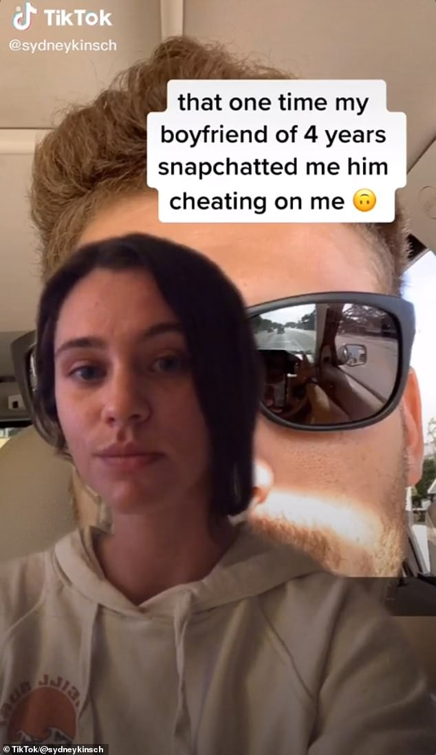 Whoops! Sydney Kinsch revealed how her relationship ended in a viral TikTok video last year, showing the selfie her boyfriend of four years sent her on Snapchat