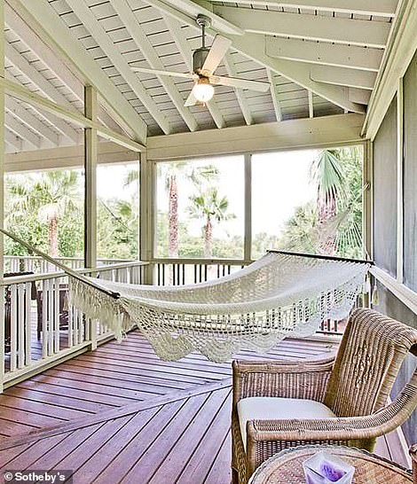There is also a swing to nap inside