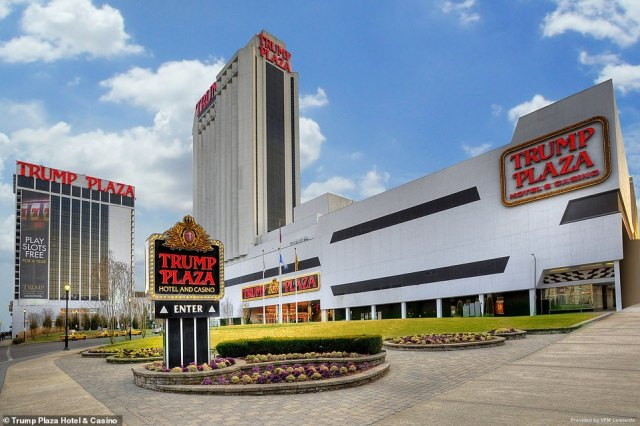 Officials have announced that the Trump Plaza Hotel and Casino in Atlantic City, New Jersey will be detonated on February 17. The complex is pictured back in heyday