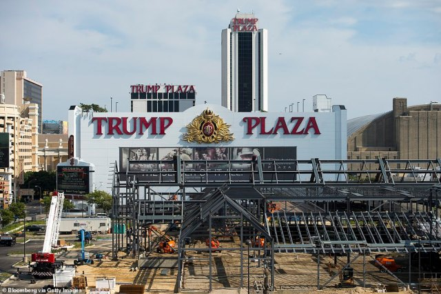 The Plaza is seen in 2014, around the time it closed to the public. Current owner Carl Icahn is demolishing the complex to prevent falling debris