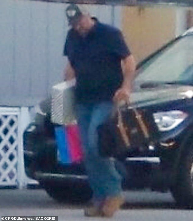 Leggings: Blake Shelton looked at every square inch of the country when he was spotted in Los Angeles this weekend