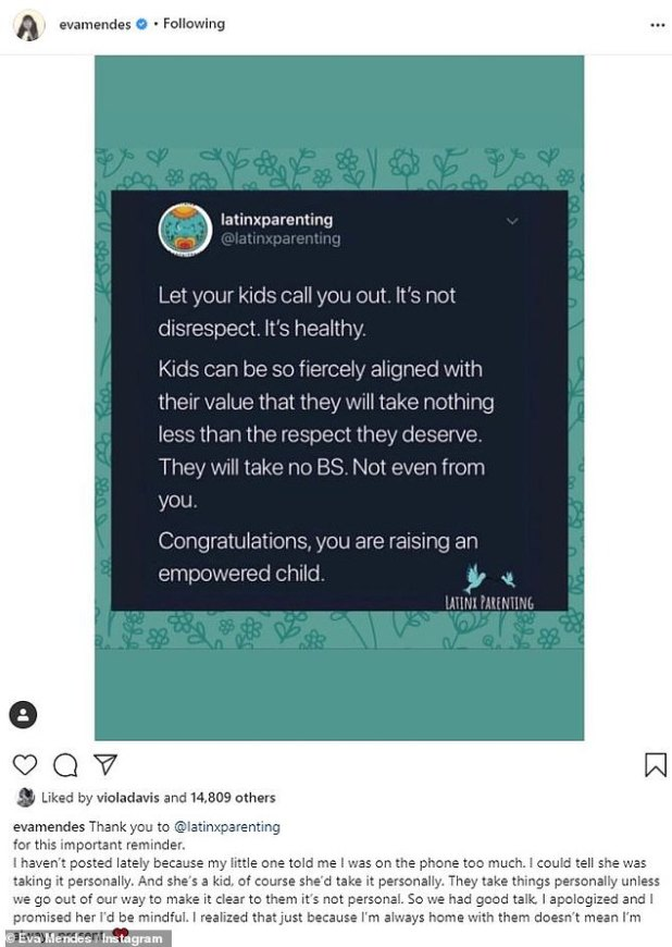 Quit Feeling: Eva shared a post from @latinxparenting about your kids 'calling you out'.  She said her daughter took it 'personally' when she was too busy for her mother