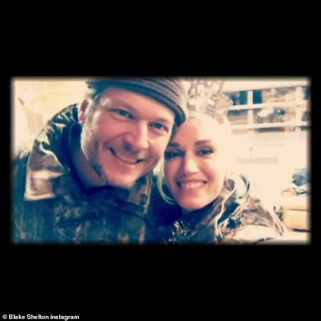 Inseparable: Gwen has been dating Blake since late 2015 and he finally proposed last October as they isolated themselves on his ranch in Oklahoma