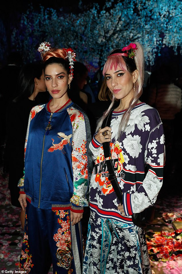 Stylish: Lisa, left, and Jessica Origliasso, right, 36, announced their collaboration on Thursday, after attending an event with label co-founders Lucy Jackson and Nikki Westcott
