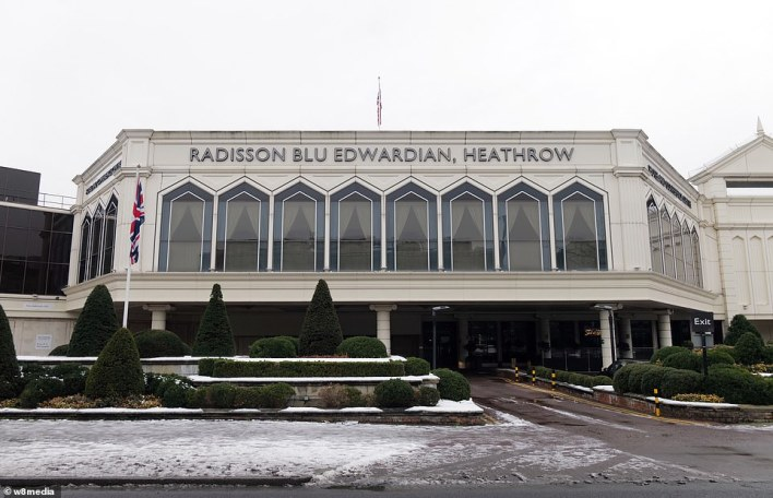 Radisson (pictured at Heathrow today) says its hotels has also been equipped with resources to handle suspected or confirmed cases of coronavirus (COVID-19) and is ready to lockdown for quarantine purposes