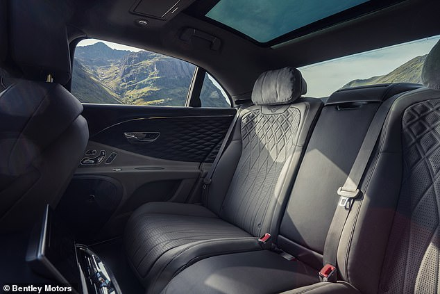 Each car takes 100 hours to build and has nearly two miles of thread stitching up to 14 leather hides per limousine - the attention to detail is staggering across the entire Bentley range