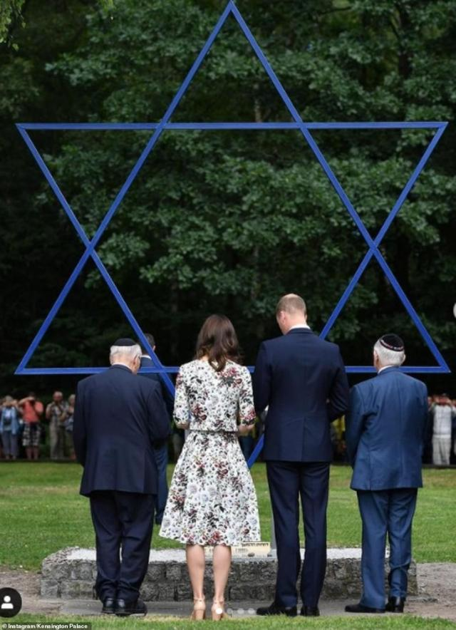 The Duke and Duchess of Cambridge shared several photographas they met Holocaust survivors Zigi Shipper and Manfred Goldberg
