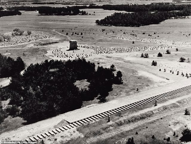 Unlike at other camps, where some Jews were assigned to forced labor before being killed, nearly all Jews brought to Treblinka were immediately gassed to death