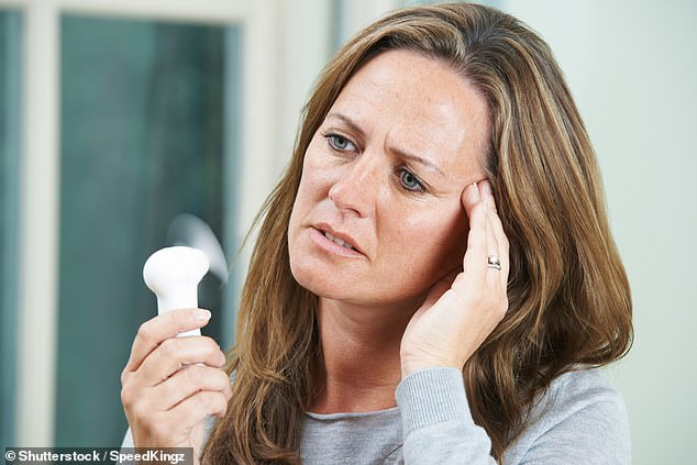 Women who were still upset over something that had happened in the last year were 21 per cent more likely to get frequent menopause symptoms than those who had avoided difficult life problems (stock)