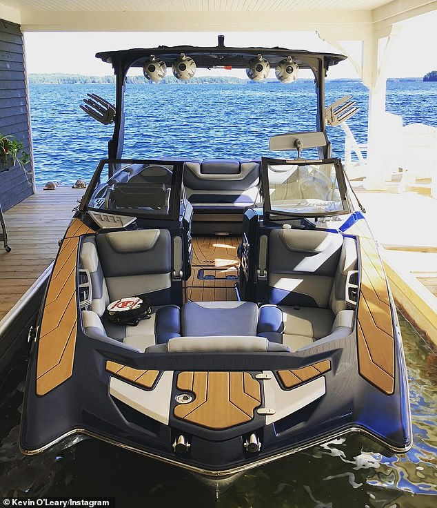 Linda, who serves as VP of Marketing for O'Leary Wines, was operating her and Kevin's luxury boat on Lake Joseph in Ontario, Canada on August 24, 2019 when it collided with another vessel, killing the two and injuring three others. touched.  Pictured: One of O'Leary .'s boats