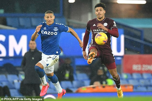 James Justin (right) has played every Premier League match this season and performed well