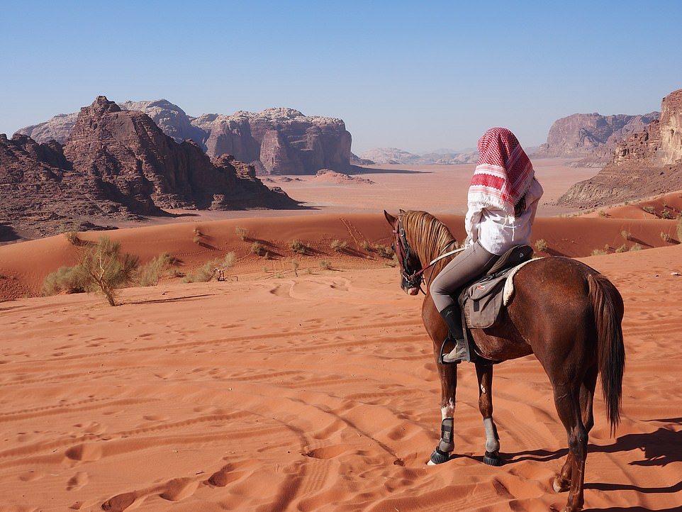 Channel your inner Lawrence of Arabia on a riding holiday in Jordan, where you'll canter on horseback across the desert