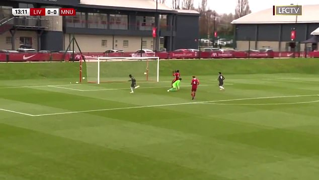 The Ivorian winger slotted past the keeper after dispossessing defender Billy Koumetio