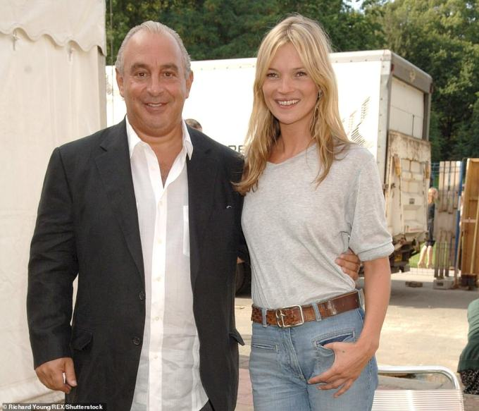 Sir Philip and Kate Moss at a Topshop show for London Fashion Week at the Open Air Theatre in Holland Park, London, in 2006