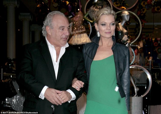 Sir Philip Green and Kate Moss open the Topshop and Topman flagship store in New York in April 2009