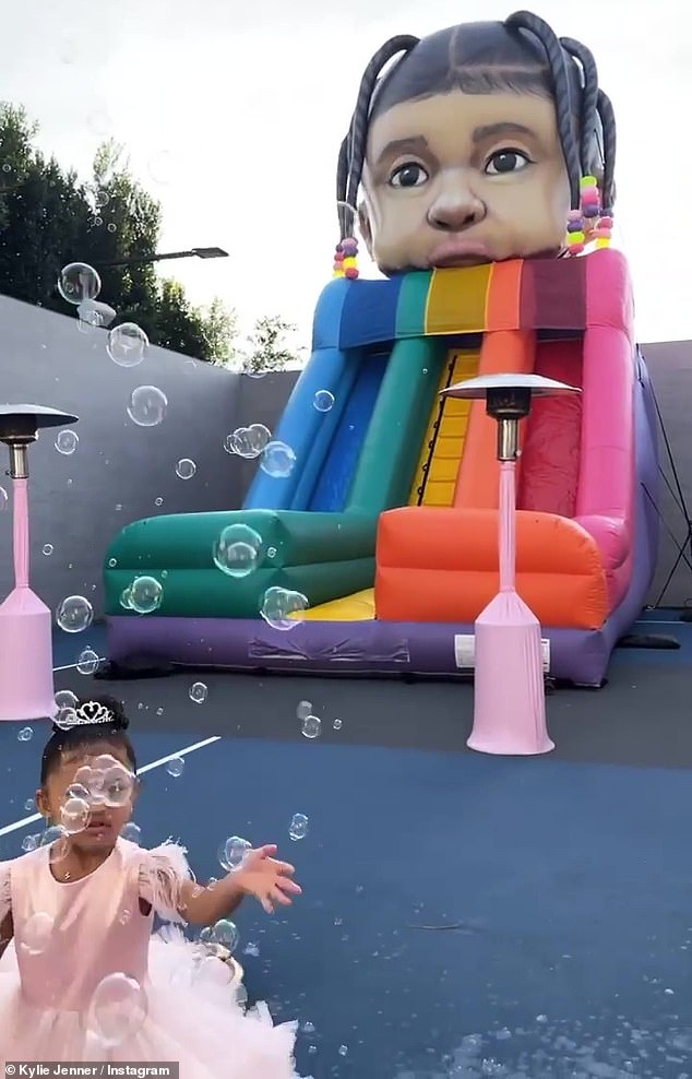 Scaling back: Although the couple substantially scaled back the lavish star-studded Stormi World festival they usually hold, they still got backlash for having a party during the pandemic