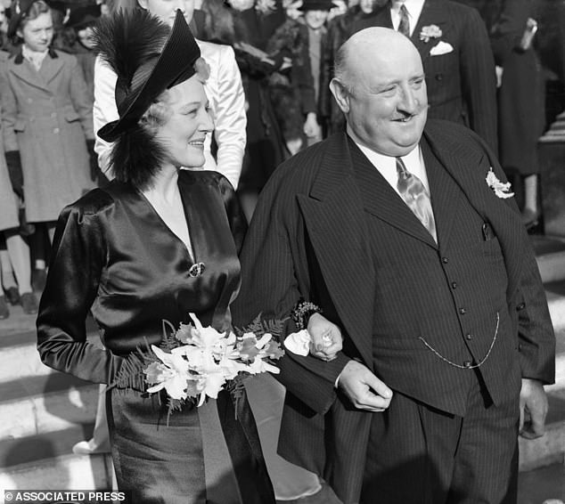 The Viscount remarried in 1943 in London, wedding 'serial widow' Enid Maude, the Viscountess Furness (pictured)