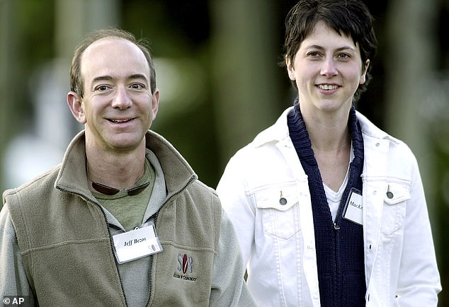 Jeff and MacKenzie Bezos at Allen & Co in 2003