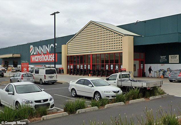The Bunnings Warehouse at Springvale (pictured) has been listed as an exposure site for the time of11:28am to 12:15pm on February 1
