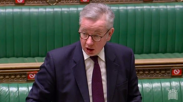 Michael Gove told the EU 'damage has been done' in Northern Ireland after its ditched threat to block vaccine exports