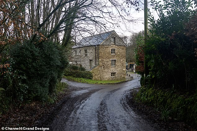 As the novice couple set to work on the 500-year-old mill, they soon discover the true scale of the damage to the structure. Pictured, the mill