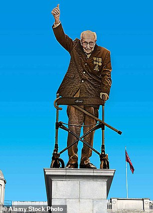 An artist's impression shows what a proposed statue of Captain Sir Tom Moore would look like