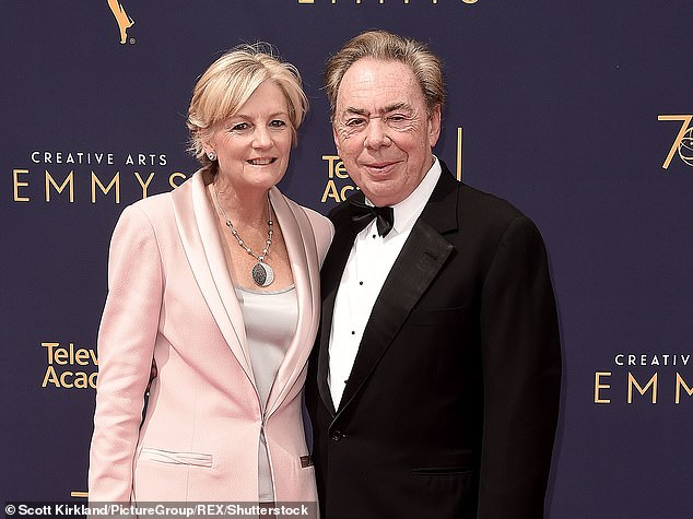 Pictured: Andrew Lloyd Webber with wife Madeleine Gurdon in 2018