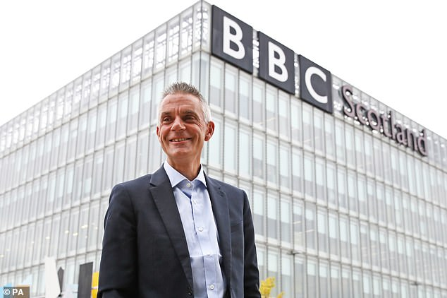The report, unveiled by BBC director-general Tim Davie (pictured above), claimed that while 'each hour of BBC TV watched by a household costs it around 9p', for an 'equivalent' streaming service the cost per hour 'consumed by the household' was about 15p