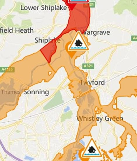 The alerts and warnings around Sonning